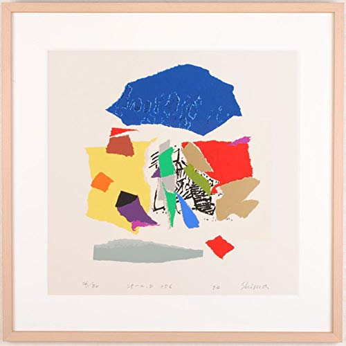 現代アート 絵画 抽象画 現代美術 シルクスクリーン 版画 島州一 「SP-C,D 156」 額付き   B07RWJNS85