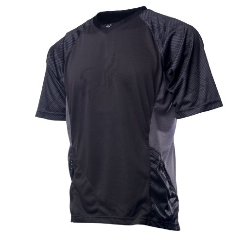 Jersey Short Fox Flow Sleeve - Fox Men's Flow Short Sleeve Jersey,Black,Large