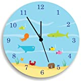 Ocean Sea Life Nursery Wall Clock