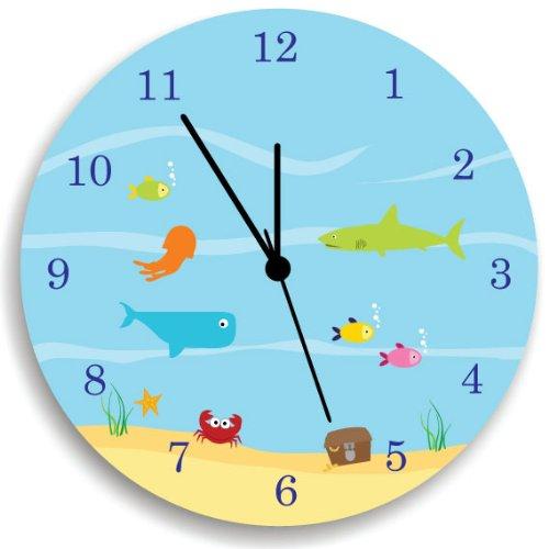 Ocean Sea Life Nursery Wall Clock by Kid'O Design Studio