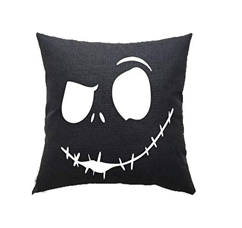 LYNZYM Nightmare Before Christmas Cotton Linen Square Throw Pillow Case Decorative Cushion Cover Pillowcover for Sofa 18