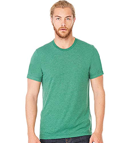 - Bella+Canvas Perfect Tri-Blend Fashionable T-Shirt, XS, Grass Green Triblend