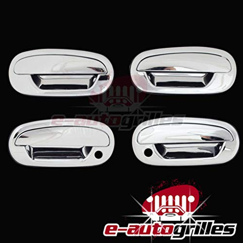 EAG 97-03 Ford F-150/97-02 Ford Expedition/98-02 Lincoln Navigator 4 Door Handle Covers Triple Chrome Plated ABS
