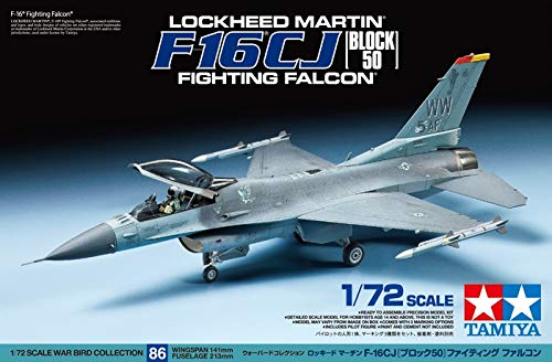 Tamiya 60786 F-16 CJ Fighting Falcon 1/72 Scale Aircraft Model Kit