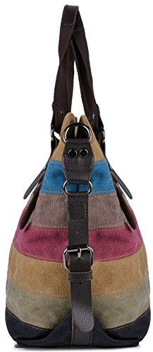 Borse COOFIT Borse Hobo Donna Design Tela a Spalla Multicolore Borse Donna Tracolla Borse Multicolore q0AvwqT