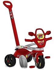 Triciclo Mototico Ricky Zoom Passeio & Pedal, Bandeirante, Vermelho