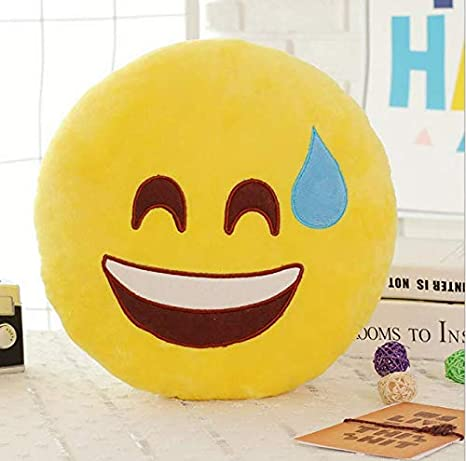 juou Nueva Cara Sonriente Emoji Almohadas Suave Felpa ...