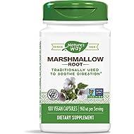 Nature's Way Premium Herbal Marshmallow Root, 960 mg per serving, 100 Capsules (Packaging May Vary)