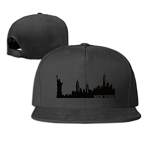 new-york-wall-decals-silhouette-adjustable-six-panel-baseball-cap-black