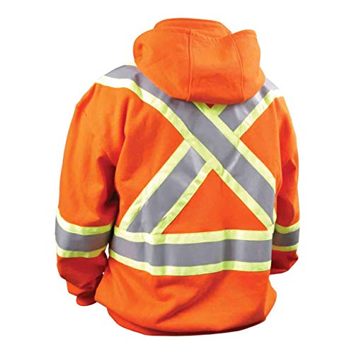 Revco/Black Stallion TruGuard™ 200 FR Cotton Hooded (Safety Orange) Sweatshirt, Reflectives 2XL by Black Stallion (Image #1)