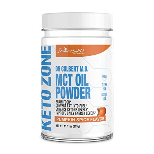 Dr.Colbert's Keto Zone MCT Oil Powder (Pumpkin Spice Flavor) (300 Grams) (30 Day Supply) – Recommended in Dr. Colbert's Keto Zone – Alternative Coffee Creamer – Ketogenic – Dairy Free – Soy Free Review