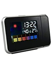 LCD LED Projector Alarm Clock thermometer humidity Calendar snooze