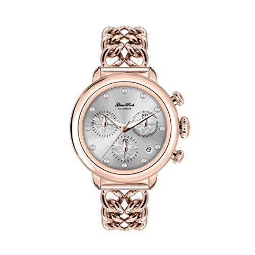 Glam Rock Women's Bal Harbour 40mm Rose Gold Plated Bracelet & Case Swiss Quartz Analog Watch GR77115N