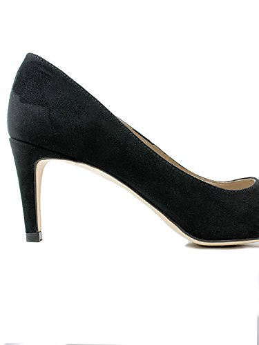 Will's Vegan Shoes SMART COURTS BLACK FAUX SUEDE
