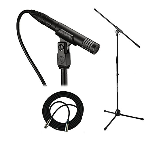 Audio Technica PRO 37 Condenser Instrument Microphone with Stand and XLR Cable