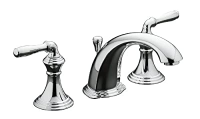 KOHLER Devonshire K-394-4-CP 2-Handle Widespread Bathroom Faucet with Metal Drain Assembly in Polished Chrome