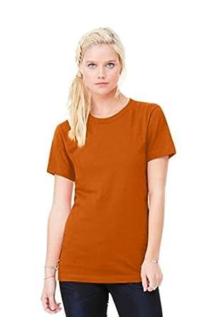 Clementine Womens Jersey Short-Sleeve T-Shirt-BURNT ORANGE-S
