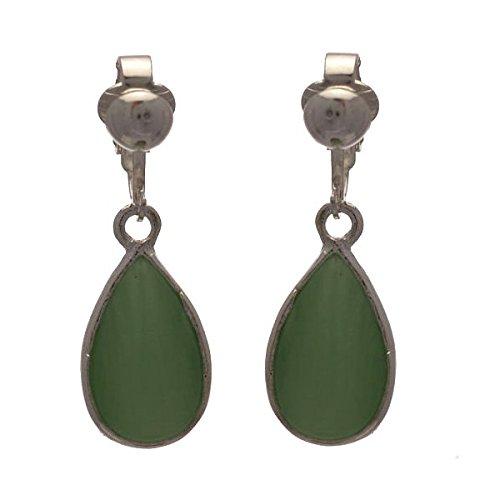 1f5e6872f58e COCHINETTE Verde lima de plata aretes de Clip  Amazon.es  Joyería