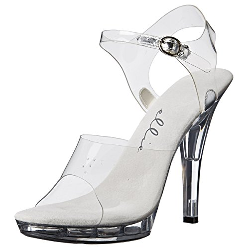 High Heel Mini - Summitfashions 5 Inch Women's Sexy Clear Shoe Casual High Heel Sandal Mini Platform Size: 9