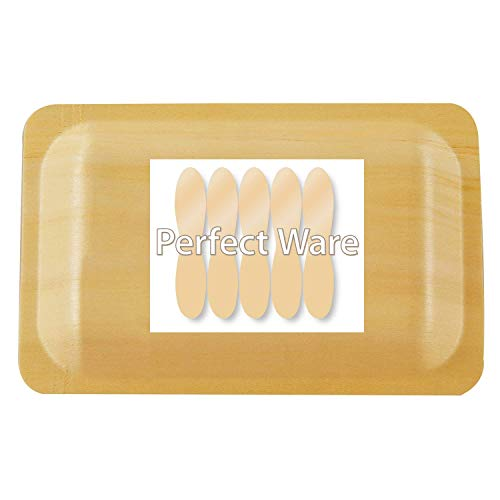 Perfect Stix Perfectware 7-50ct Wooden Disposable Rectangular Plates, 7
