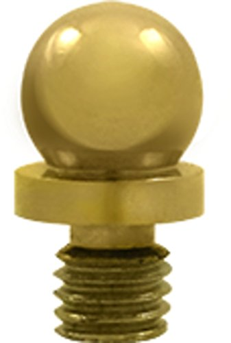 Brass Cabinet Tip Finial - Ball Tip Solid Brass Cabinet Finial in PVD (Set of 10)