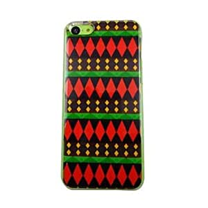 WQQ Hermosa modelos geométricos Patrón PC de nuevo caso de iPhone 5C