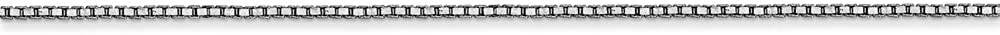 14K White Gold 0.90MM Box Link Anklet Bracelet 9