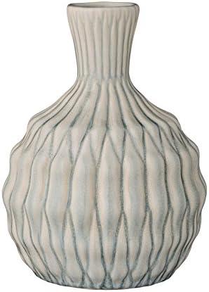 Bloomingville Short Winter Blue Ceramic Vase