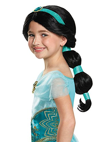 Jasmine Disney Princess Aladdin Wig, One Size Child -