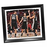 San Antonio Spurs Tony Parker ''Big Three High Five'' Stretched 22x26 Framed Canvas