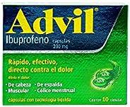 Advil Fastgel, 10 Cápsulas Líquidas.