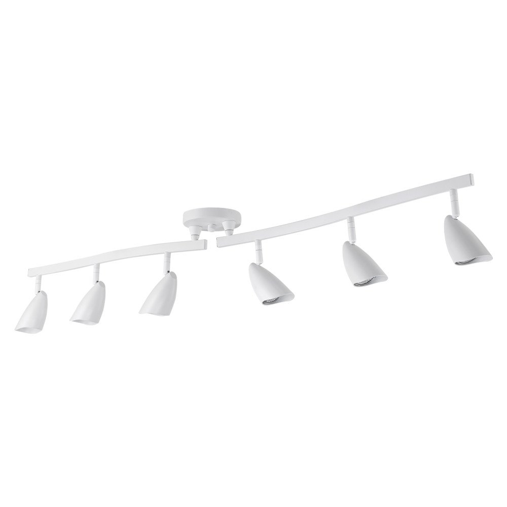 Globe Electric 59353 Matte Finish Track Lighting, White