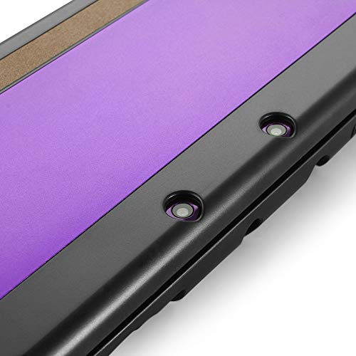 TNP Case Compatible with [ NEW Nintendo 3DS XL LL 2015 ], Purple - Plastic + Aluminum Full Body Protective Snap-on Hard Shell Skin Case Cover New Modified Hinge-less Design