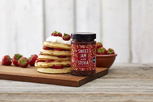 Sweet Jam with Stevia by Good Good - 12 oz / 330 g - No Added Sugar Strawberry Jam - Keto - Vegan - Gluten Free - Diabetic (Strawberry)