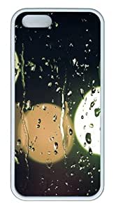 Apple iPhone 5S Cases - Raindrops On Glass TPU Case Cover for iPhone 5S and iPhone 5 - White