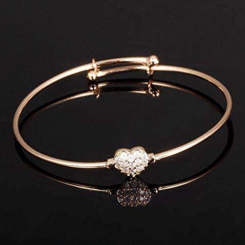 Buy rose gold baby bracelets for girls