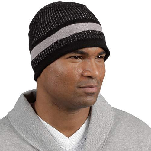 Minus33 Merino Wool Granite Beanie Hat, Black/Grey, One Size