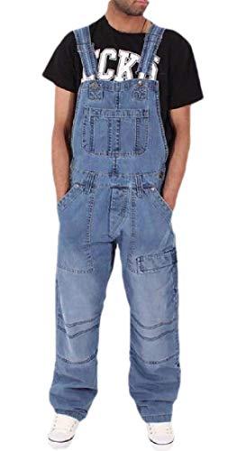 [해외]ouxiuli Men Slim Fit Ripped Denim Overalls Romper Casual Bib Pants Jumpsuit / ouxiuli Men Slim Fit Ripped Denim Overalls Romper Casual Bib Pants Jumpsuit 2 L
