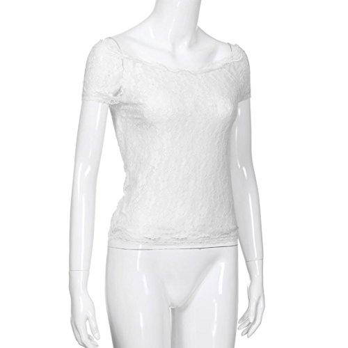 Maglietta vestibilit Maniche Donna T feiXIANG Donna Elegante da da A Shirt Corte rAqraPw