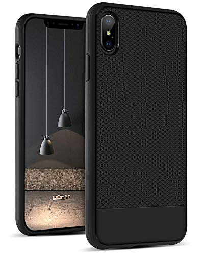 iPhone Xs Max Case 6.5 inch, Case for iPhone Xs Max, DUEDUE Shockproof Slim Soft TPU Diamond Stripe Design Protective Phone Case for iPhone Xs Max for Men and Boys, -