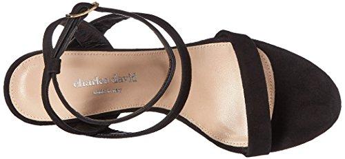 Charles David Womens Cassie Sleehak Sandaal Zwart
