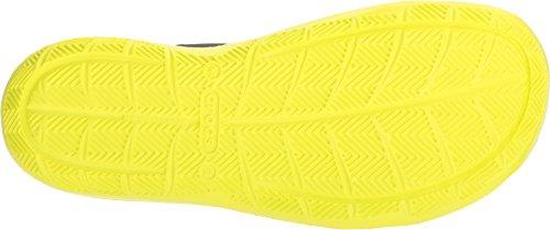 crocs Men's Swiftwater M Flat,black/tennis ball M US