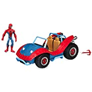 Marvel Spider-Man with Spider-Mobile Playset Toybox No Color