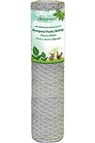 UPC 714367086408, Amagabeli 24-Inch-by-150-Foot 20-Gauge 2-Inch Hot-Dipped Galvanized Hexagonal Poultry Netting