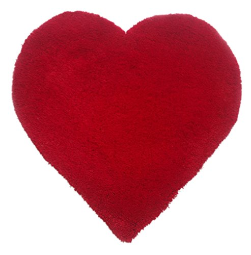 (CHIC RUGZ Xoxo Red Heart Shape Area Rug, 3' x 3')