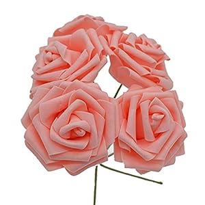 10 Heads 8Cm Pretty Charming Artificial Flowers Pe Foam Rose Flowers Bride Bouquet Home Wedding Decor Scrapbooking DIY Supplies 15