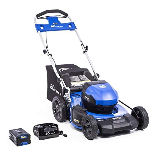 KT Kobalt 80-Volt Max Brushless Lithium Ion 21-in Push Cordless Electric Lawn Mower Battery Included