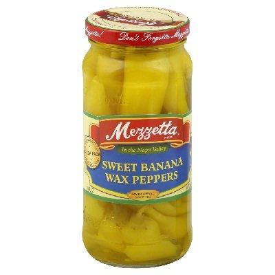 G L Mezzetta Peppers, Sweet Banana, 16-Ounce (Pack of 6)