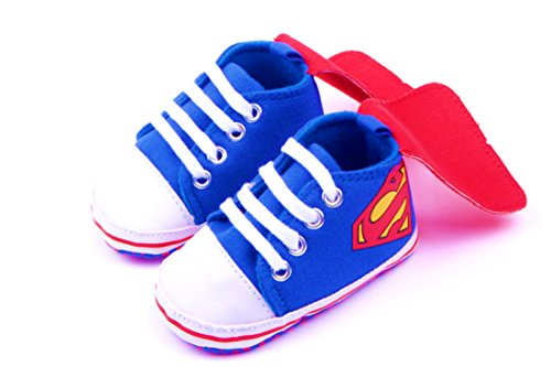 Baby Superhero Jumpsuit With Removable Cape and Shoes (12-18 Months, Superman Cape (Superman Halloween Costume 12-18 Months)
