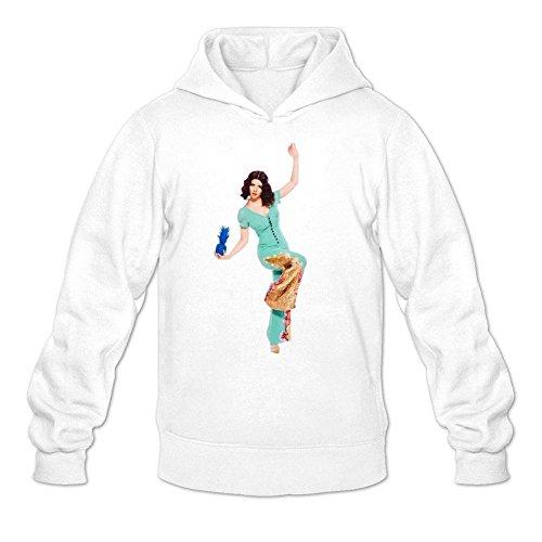 XIULUAN Men's Marina And The Diamonds Hoodied Sweatshirt XL White